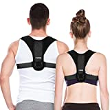 Posture Corrector for Men And Women, LUDTOM Adjustable Upper back straightener for Clavicle Support, Invisible Under Clothes, Providing Pain Relief from Neck, Back and Shoulder (Universal)
