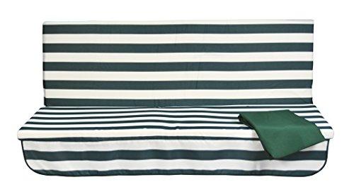 Stiliac 9411t312Set Kissen Notebook, gerillt weiß/grün, 150x 55x 6cm