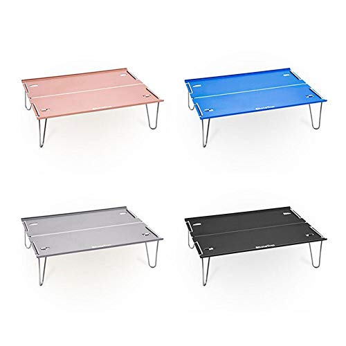 Mesa de camping pequeña, plegable, ligera, con tablero de aluminio, mini escritorio para senderismo, viajes al aire libre, 30 x 21 cm