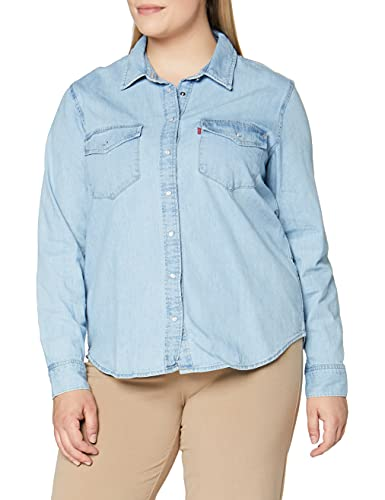 Levi's Essential Western Blusa, Blue (Cool out (2) 0001), L para Mujer