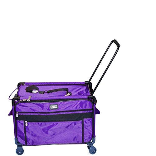 Tutto 2XL Purple Sewing Machine Case on Wheels,
