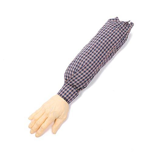 catyrre 1Pc Novelty Ghastly Severed Arm with Sleeve, Halloween April Narr's Day Joke Dekoration Prop