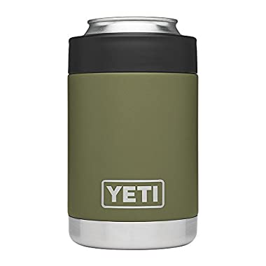 YETI Rambler Vacuum Insulated Stainless Steel Colster(Olive green), Olive Green