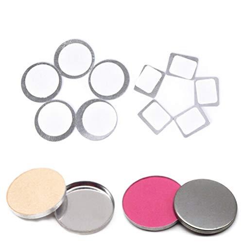 2 packs / 40 stücke runde rechteck metall aufkleber für lidschatten metall aufkleber für...