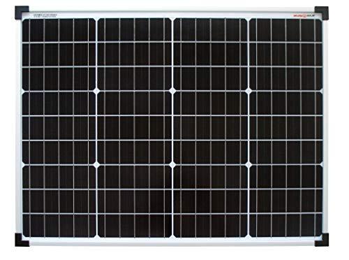 enjoysolar® Mono 50W Monokristallines Solar panel 50Watt ideal für Wohnmobil, Gartenhäuse, Boot (Mono 50w)