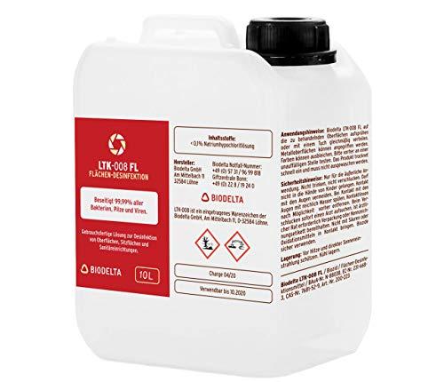LTK008 - Flächen Desinfektionsmittel - 10 Liter Kanister - Made in Germany