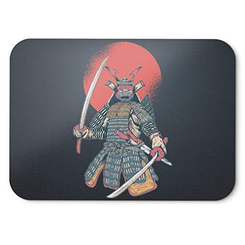 BLAK TEE Vintage Japanese Samurai Mouse Pad 18 x 22 cm in 3 Colours Black