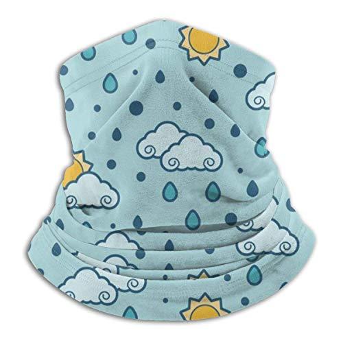 AEMAPE Creative Cloud Sun Raindrops Mascarilla Cuello Calentador Collar Bufanda Bandana Bufanda Pasamontañas