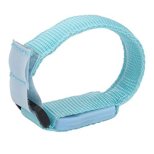 Brazalete LED, pulsera iluminada, cinturón reflectante, funciona con pilas, ajustable para hombres, mujeres, seguridad nocturna(blue)
