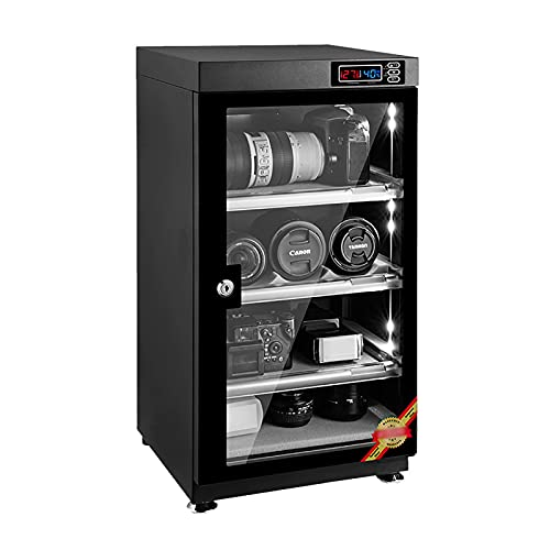 CLING Lente de cámara 35L Deshumidificación Gabinete seco Control Digital Caja Seca Almacenamiento silencioso Ahorro de energía Control de Humedad preciso Almacenamiento de Equipos