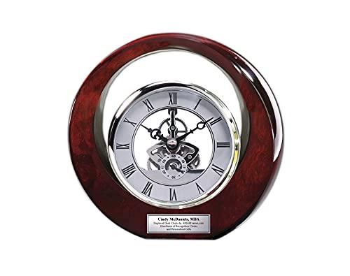 Executive Engraved Da Vinci Desk Clock