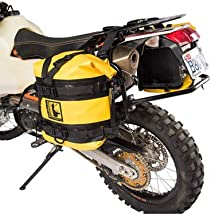 Pannier Racks with Wolfman Expedition Dry Saddle Bags Yellow for Suzuki DR-Z 400S 2000-2009