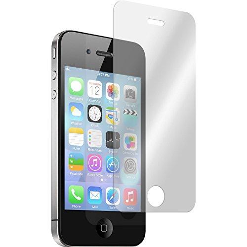 PhoneNatic 2 x Glas-Folie klar kompatibel mit Apple iPhone 4S - Panzerglas für iPhone 4S