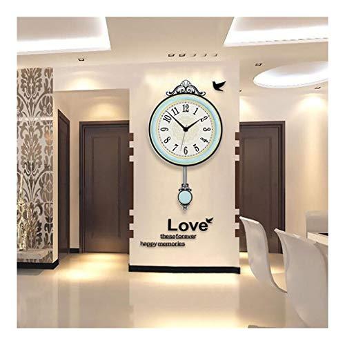 MJJ @Reloj de Pared Cuarzo silenciosa del Reloj de Pared de Moda no tictac Movimiento Relojes de Sala de Estar Decoración del Dormitorio, la Cocina del hogar decoración de la Pared Interior