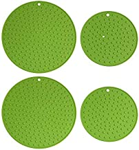 Extra Large, Extra Thick Silicone Trivet Mat Set For Hot Dishes,Pots and Pans, Kitchen Hot Pads for Countertop and Table, ...