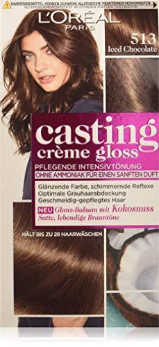 L'Oréal Paris Casting Crème Gloss Glanz-Reflex-Intensivtönung 513 in Iced Chocolate, 3er Pack