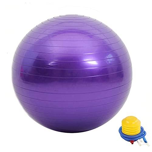 Bola de ejercicios extra gruesa, bola de yoga anti-ráfaga, deportes de yoga gimnasio equilibrio entrenamiento fitball, silla de bolas de trabajo pesado, balance de für, estabilidad, 65 cm con conjunto