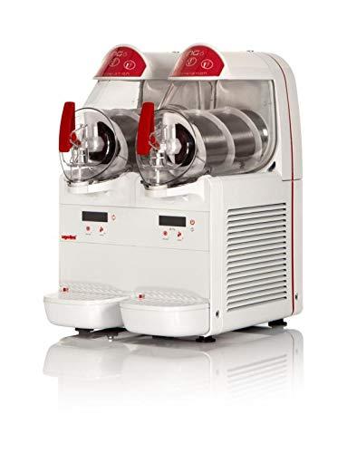 UGOLINI NG6/2 EASY - Máquina para granizados sorbetes cremas frías - 2 recipientes de 6 litros - Dispensador fabricado en Italia