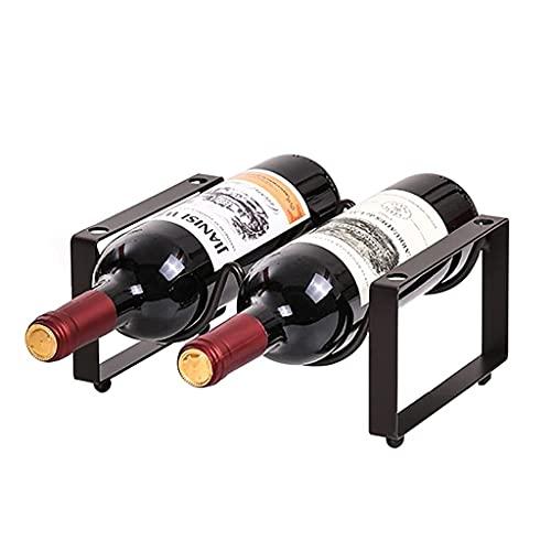 TIANYOU Estante de Alenamiento de Encimera de Encimera de Estante de Vino Apilable, Estante Del Gabinete de Vino, Usado para la Bodega de Gabinete de Cocina práctico / 1 layer 2 b