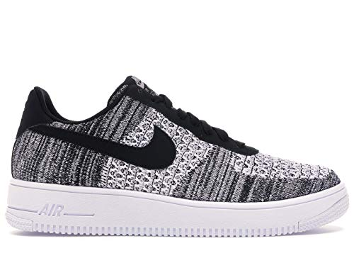Nike Herren Air Force 1 Flyknit 2.0 Basketballschuhe, Schwarz (Black/Pure Platinum/Black/White 1), 42.5 EU