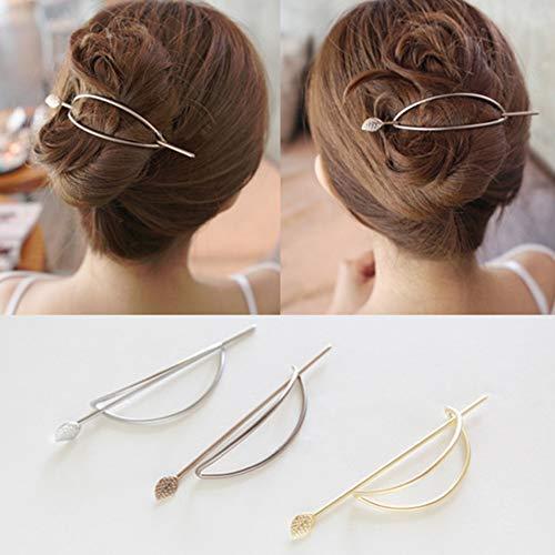 Damen Hohl Oval Geometrische Metall Haarspange Haar Clip Klemmen Zubehör Styling Jewelry