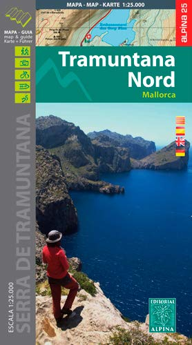 Mallorca -Tramuntana Norte GR11 map and hiking guide: ALPI.102-E25