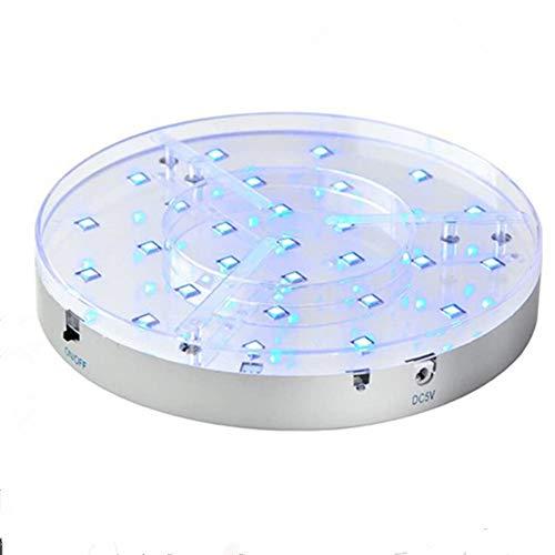 Shisha LED Untersetzer Base Lights Effekt Licht für Wasserpfeife mit Fernbedienung, 28pieces Multicolors LEDs, wiederaufladbar, 3AA batteriebetrieben, 20cm Durchmesser, 3.5CM Höch