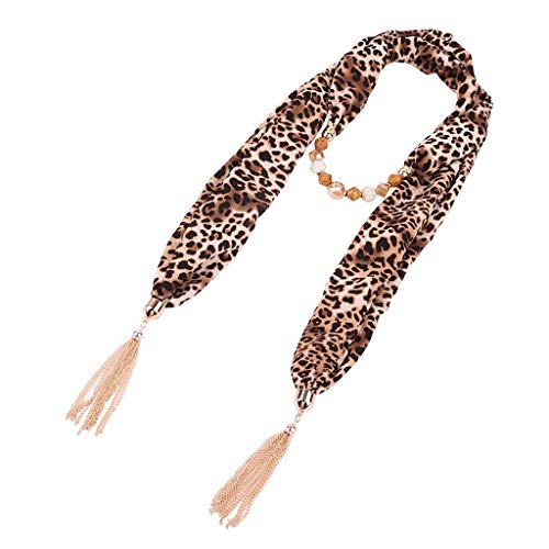 Lätzchen Big Leopard Schlangenhaut Schal Kragen, ZWXIAN, Kette Halskette Frauen Schal