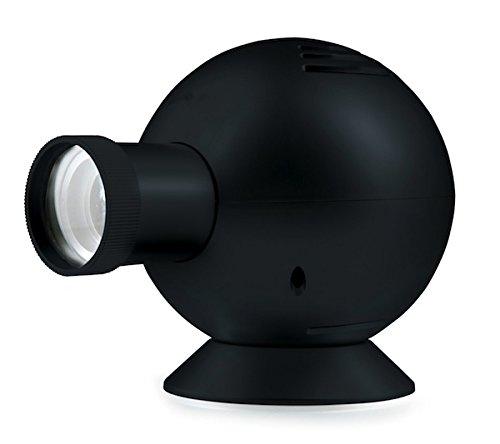 TFA Dostmann Time Ball analoge Projektionsuhr, Wanduhr, mit Farbfilter, Wandprojektion der Uhrzeit, schwarz, 60.5007