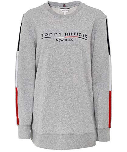 Tommy Hilfiger TH Essential Charlot C-nk LS Sudadera, Gris (Light Grey Htr 039), X-Small para Mujer
