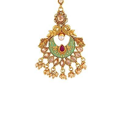Voylla Ethnic Enamel Embellished Maang Tika Jewellery for Women