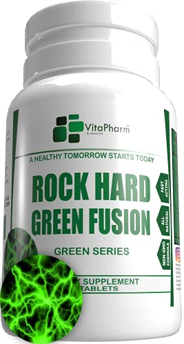 HIGH Potency Booster   Male Enhancing Supplement - Rock Hard Green Fusion Pills   Endurance Enhancement - Last Longer   Increase Growth - Long Performance   Drive Max Size   60 Capsules for Men