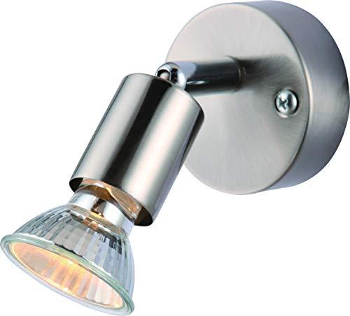 DM Leuchten Lámpara de pared LED orientable, 1 foco, incluye 1 bombilla de 3 W, luz blanca cálida, lámpara de pared LED, foco LED, foco LED, color titanio