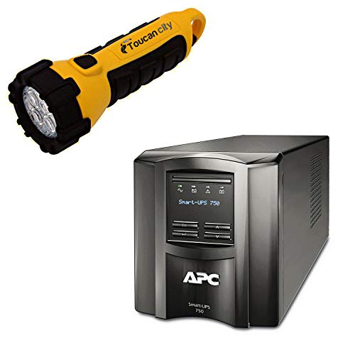 Toucan City LED Flashlight and APC 6-Outlet Smart-UPS with...