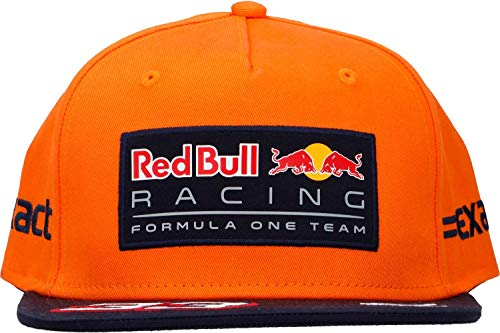 Gorra Plana Red Bull Racing Oficial 2017 Max Verstappen Naranja