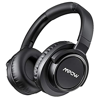 Active Noise Cancelling Headphones 50Hrs Super Standby, Mpow Over-Ear Wireless Bluetooth Headset with CVC 8.0 Mic, Hi-Fi Stereo Deep Bass, Comfortable Protein Earpads for Travel Work Online Class