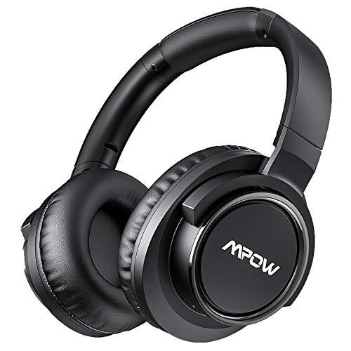 Mpow - Cuffie con cancellazione del rumore attiva, con microfono CVC 8.0, stereo Hi-Fi, bassi profondi, comodi cuscinetti proteici per viaggi e lavoro online