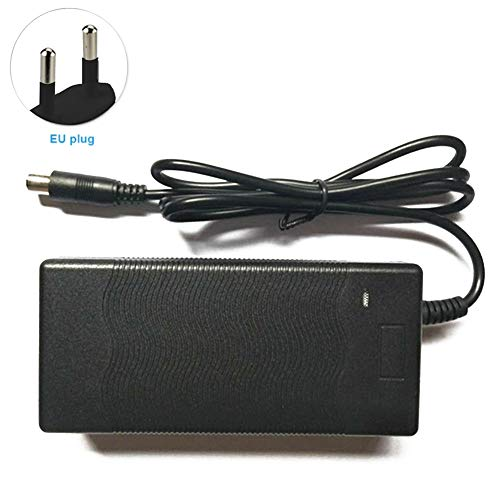 GCDN Adaptador de Corriente para el Scooter de monopatín Xiaomi Mijia M365, Scooter de Alta Velocidad, Compatible For Segway Ninebot ES1 ES2 ES4(EU Plug)