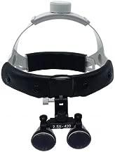 Dental 2.5X420mm Surgical Medical Binocular Headband Loupes DY-107 Black by SuperElight