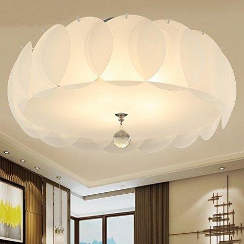 EE Lumières de Chambre à Coucher Jane Europe Modernes Lumières LED Lumière Chaud Romantique en Verre Américain Lampadaires Ronds,40cm,LED