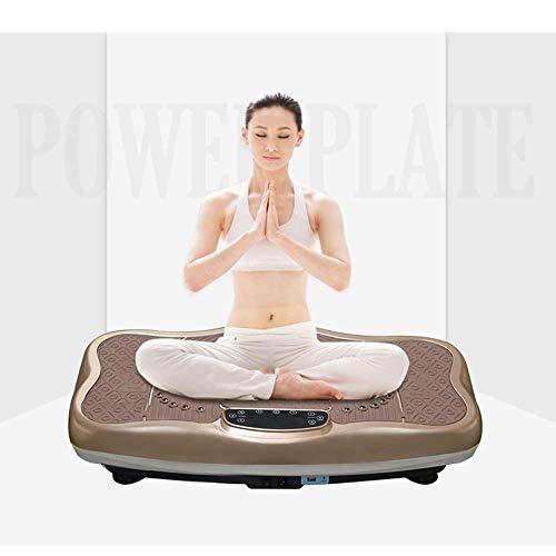 HEWEI Máquina de vibración para Todo el Cuerpo Plataforma de vibración Profesional para Todo el Cuerpo con Control Remoto Bluetooth Música Pérdida de Peso Plataforma de vibración Máquina Marrón