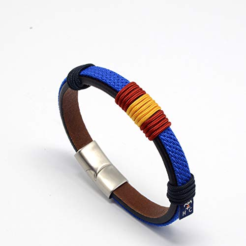 HISPANIA COLORS SINCE MMXI SPAIN Pulsera Wake Up Azul Bandera de España - Regalo Pulsera DE ESPAÑA (19)