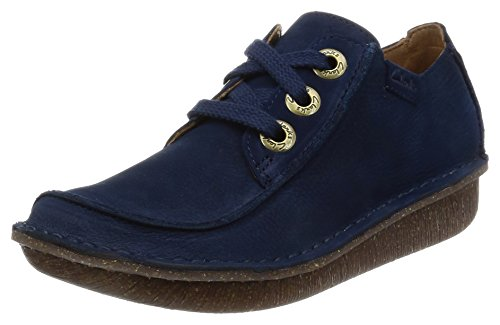 Clarks Damen Funny Dream Derbys, Blau (Navy), 35.5 EU