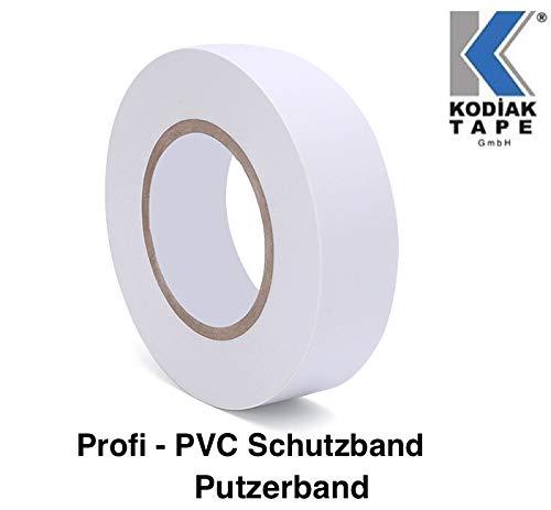 5 Rollen Putzerband 30mm x 33m Klebeband PVC Schutzband Putzband Abdeckklebeband Weiß - (EUR 0,03636 /m)