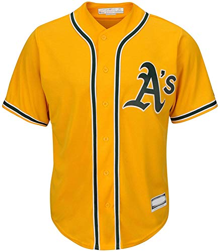 Outerstuff MLB Infants Toddler Blank Cool Base Alternate Road Team Jersey (Oakland Athletics Alternate Yellow, 3T)