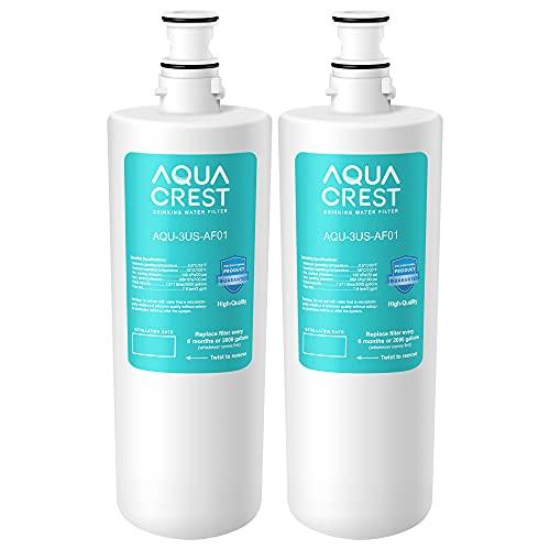 AQUACREST 3US-AF01 Under Sink Water Filter, Replacement for Standard 3US-AF01, 3US-AS01, Aqua-Pure AP Easy C-CS-FF, WHCF-SRC, WHCF-SUFC, WHCF-SUF Water Filter (Pack of 2)