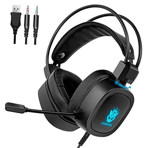 #N/A Stereo Gaming Headset für PS4 Noise Cancelling Über Ohr Kopfhörer mit Mikrofon LED Licht Weiche...