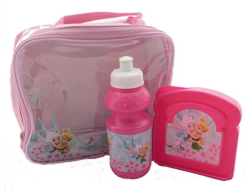 Disney 3 pièces Lunch Bag Set de Tinkerbell Fairies Fille