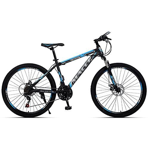 21/24/27 Velocidades, Horquilla De SuspensióN con Doble Disco Bicicleta De MontañA De 24/26 Pulgadas para Adultos Y JóVenes, Bicicletas De MontañA Ligeras