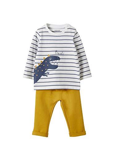 VERTBAUDET Conjunto para bebé niño con motivo animal BLANCO CLARO A RAYAS 6M-67CM